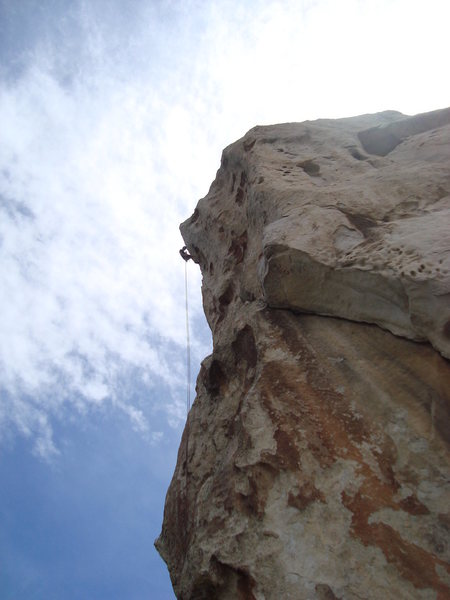 Gary starting the rappel.