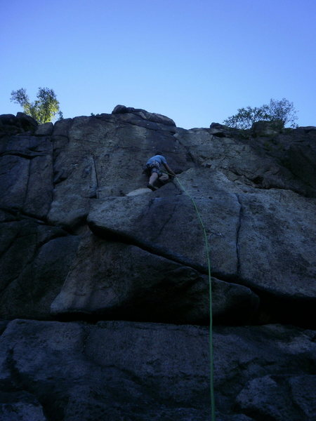 Rock Climbing Photo: after the crux and ready to cruise