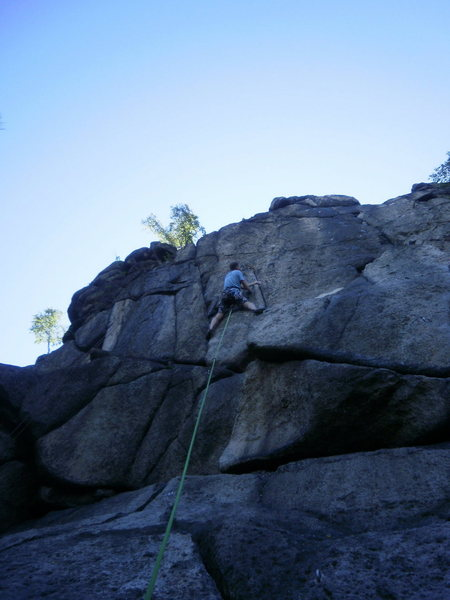 Rock Climbing Photo: on it...