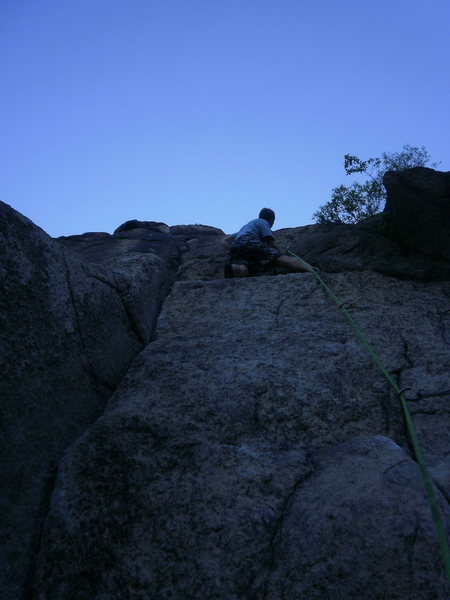 above the crux
