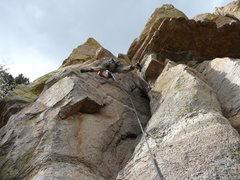Rock Climbing Photo: Joe leading the way, at the start of vistacruiser