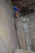 "Rock Climbing Photo: Topping out on ""Live to Climb Another Day&quo..."