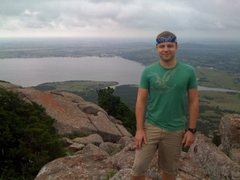 Rock Climbing Photo: Hanging out on top of Mt. Scott in the Wichita Mou...