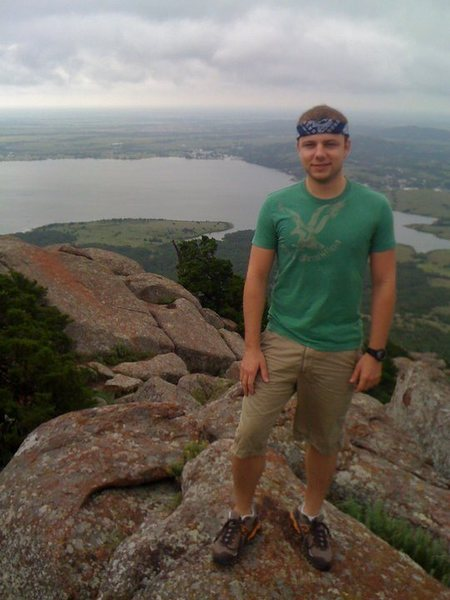 More of me on top of Mt. Scott in the Wichita Mountains