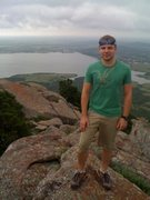 Rock Climbing Photo: More of me on top of Mt. Scott in the Wichita Moun...