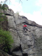 Rock Climbing Photo: the crux...