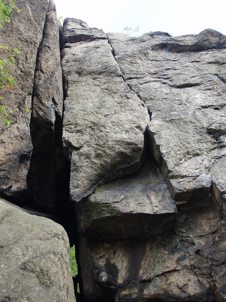looking up the crack