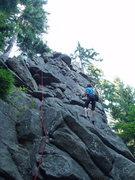 Rock Climbing Photo: Ola leading w/paparazzi on her tail