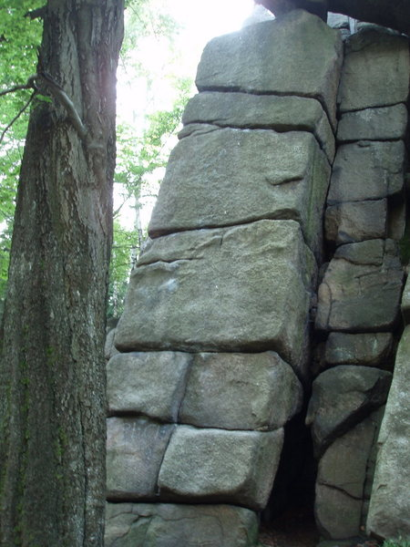 Rock Climbing Photo: straight up the middle...