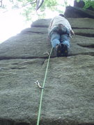 Rock Climbing Photo: getting up it...