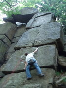 Rock Climbing Photo: big moves even for a big guy.