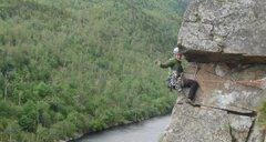 Rock Climbing Photo: Converse enjoying the arete on The El.