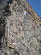 Rock Climbing Photo: A good 5.5-5.6 option on the 4th ace. Soloists, wa...