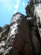 Rock Climbing Photo: Troy Halm leading the route.