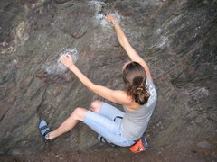 Rock Climbing Photo: at the start of Schisthead (V2)