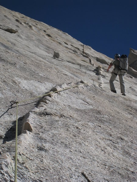 Rock Climbing Photo: Jugging on the FA.