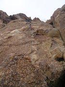Rock Climbing Photo: Todd on FA
