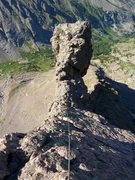 """Rock Climbing Photo: Looking back at the large """"Dr. Seuss"""" ge..."""