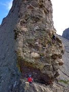 Rock Climbing Photo: Heading up pitch one, above the crux. George is go...