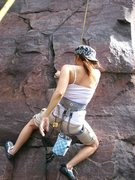 Rock Climbing Photo: Lissette pulling out the start of Last Gasp
