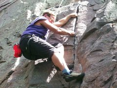Rock Climbing Photo: Another 'old guy' pulling up on Congratulations Cr...