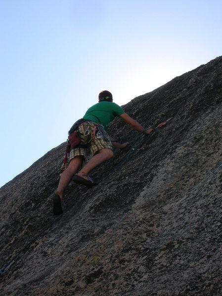 First part of climb.
