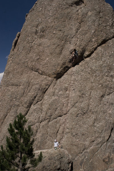 "Past the ""roof"" on Monastic Groove. One of my favorite routes at the Outer Gates."