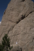 "Rock Climbing Photo: Past the ""roof"" on Monastic Groove. One ..."