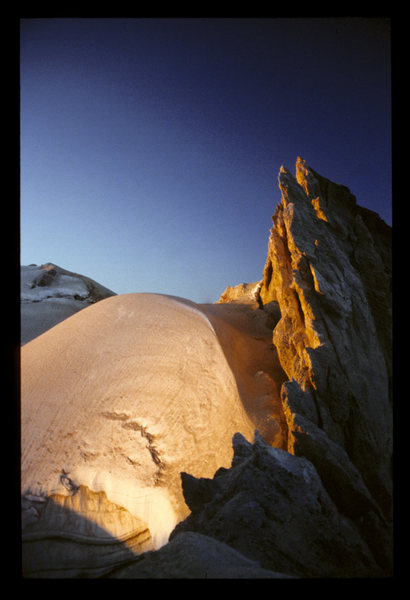 Mt. Baker's crater.