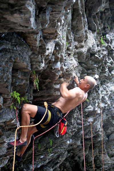 Rock Climbing Photo: Peter of Sanirang cruising.