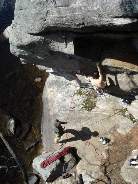 """Rock Climbing Photo: a perfect spring day with rad friends on """"Cat..."""