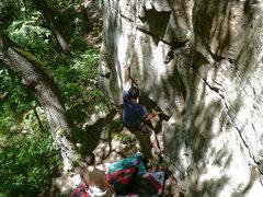 Rock Climbing Photo: Rankdog crankin'