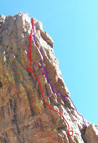 Rock Climbing Photo: Alternatives on the upper pitches of the SW Corner...
