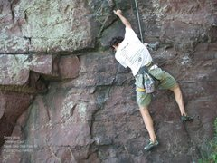 Rock Climbing Photo: Dmitriy looks for a foothold
