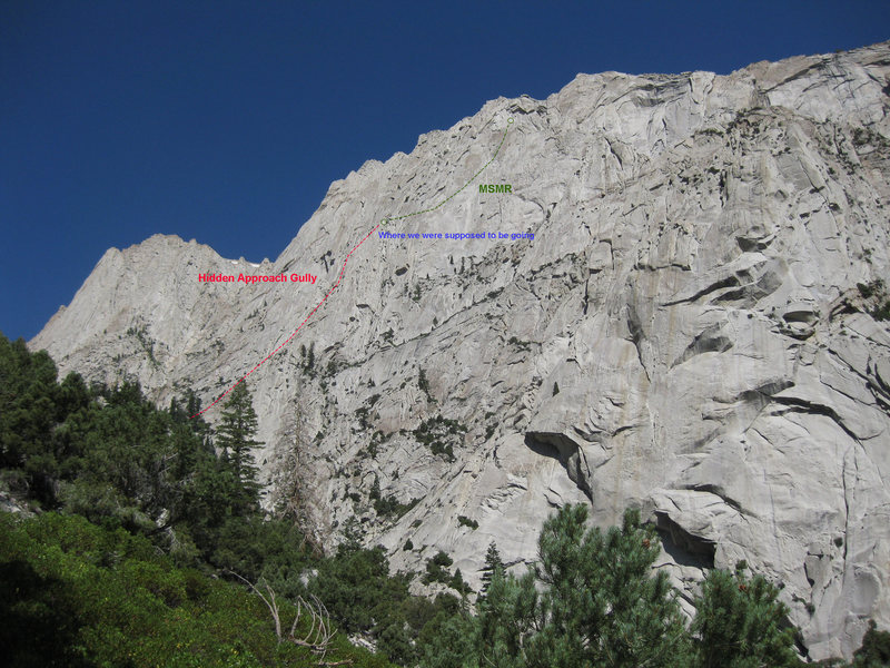 Far away shot of where MSMR is located on the face of LPP.