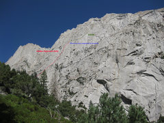 Rock Climbing Photo: Far away shot of where MSMR is located on the face...