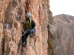 Rock Climbing Photo: Lost Cities 5.12a,Black Canyon,CO