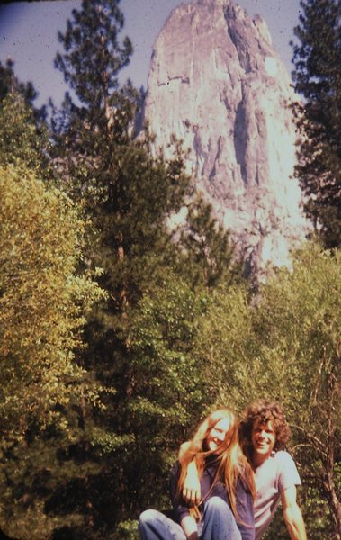 Michael and Jane below Sentinal. Yosemite 1970