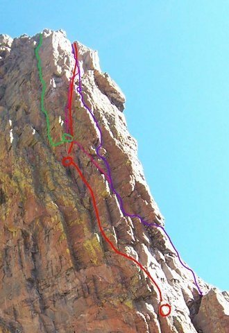 Rock Climbing Photo: There are many variations at the top.  We ended up...