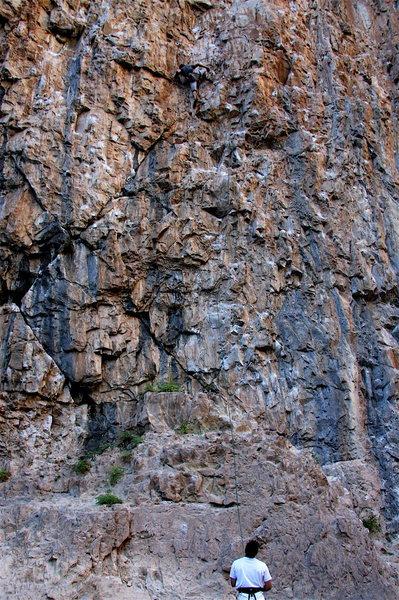 Rock Climbing Photo: Chuck Lepley on Fist Full of Dollars.
