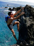Rock Climbing Photo: Bouldering on The Big Island of Hawaii