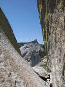 Rock Climbing Photo: View west from the last pitch of Imaginary Voyage.
