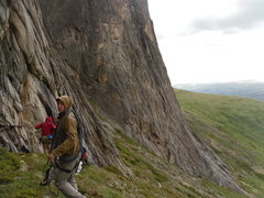 Rock Climbing Photo: aaaand here comes the rain (and hail, and thunder)...
