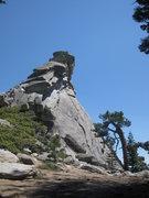 Rock Climbing Photo: North Ridge and summit of Hermit Spire.