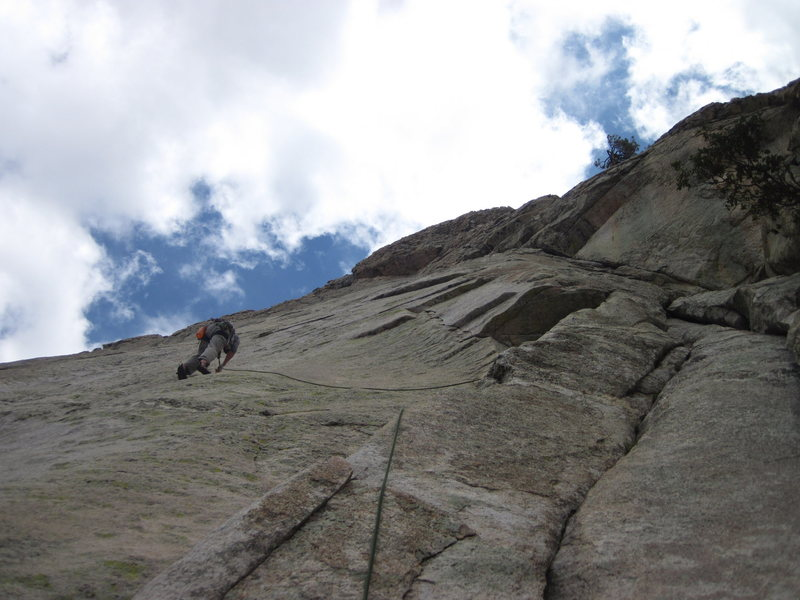 Rock Climbing Photo: Leading out past the first bolt