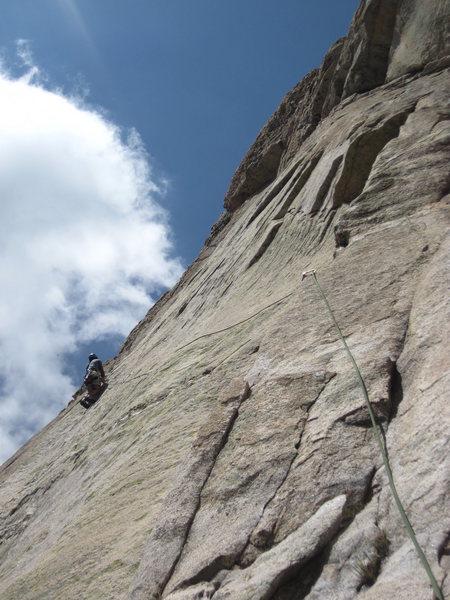 Rock Climbing Photo: Joe at the second bolt