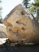 Rock Climbing Photo: Hueco Shuffle Left Topo