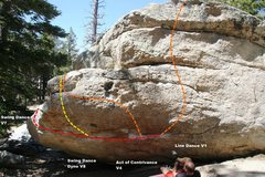 Rock Climbing Photo: Swing Dance Boulder North Face Topo