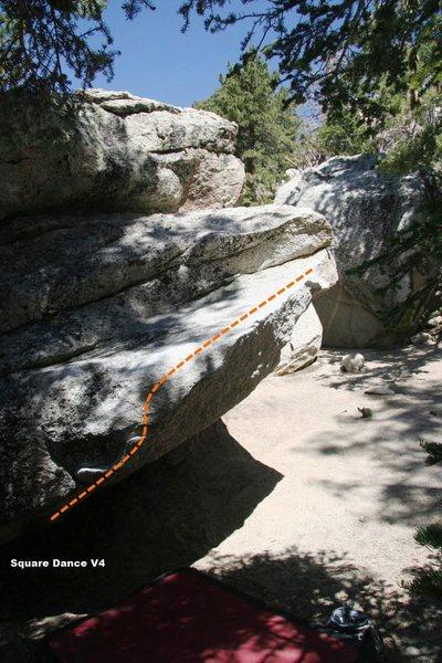 Rock Climbing Photo: Swing Dance Boulder East Topo