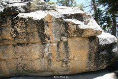 Rock Climbing Photo: Swing Dance Boulder South (right) Face Topo